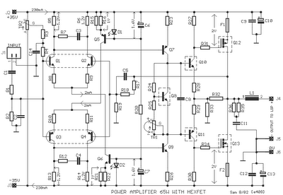 tr amp audio pwr 65w