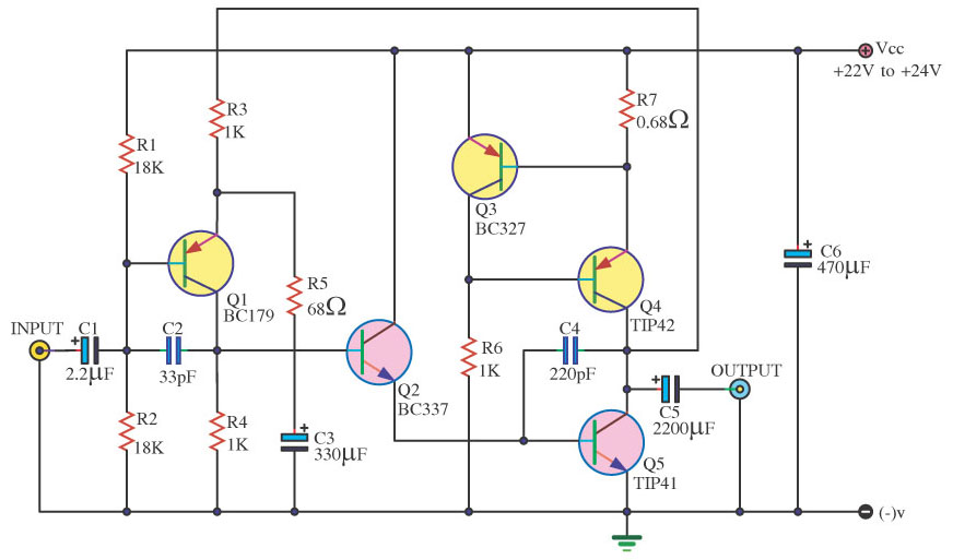 Tip41 Tip42 Amplifier Diagram | Wiring Diagram