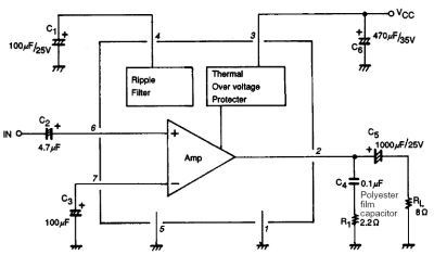 differential amplifier using LA4275