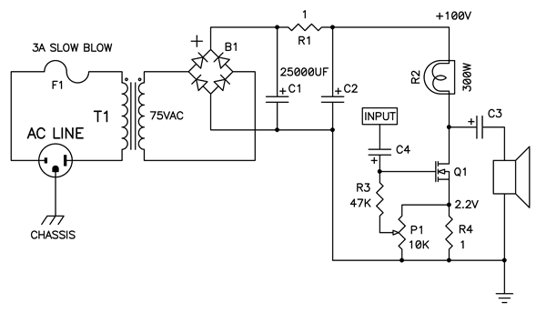 100v power supply circuit