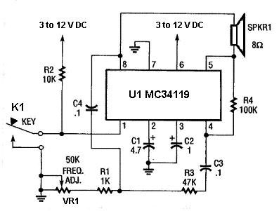 Mini Audio   Circuit on simple remote control diagram