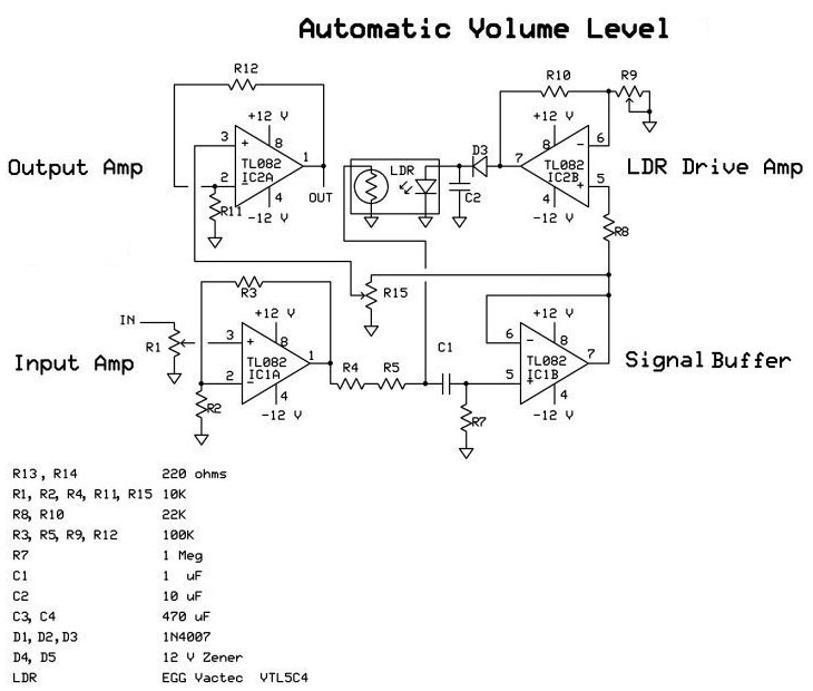 auto volume electronic circuit diagram and layout rh afiata com PA Speaker with Volume Control Power Transformer Schematic
