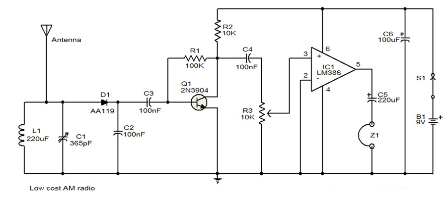 AM radio circuit diagram