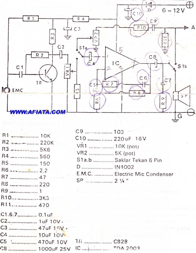 Diy Intercom Circuit