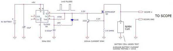 NiMH Cell Battery Tester circuit