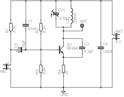 micro transmissor fm using bf49402