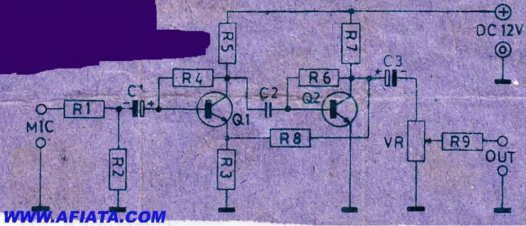 2 tr preamp mic schematic electronic circuit diagram and layout rh afiata com