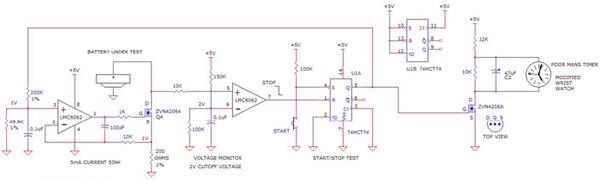 24 hour digital clock circuit using LMC4042, ZMR500, 74HCT74, ZVN206A