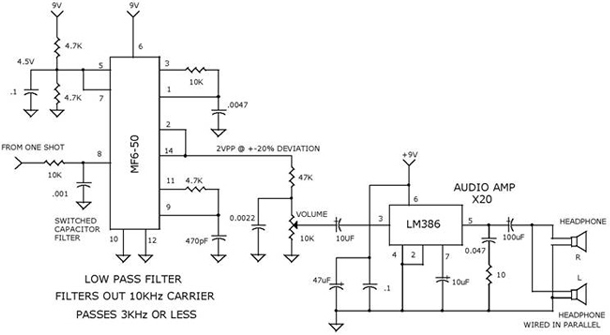 Filter for Headphone AMP schema