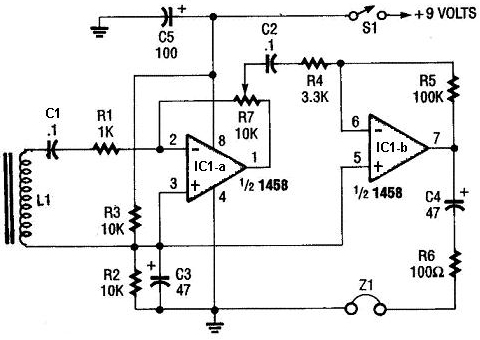 Headphones Circuit using SMI1458 1458