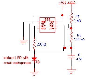 Oscillator Circuit using 555