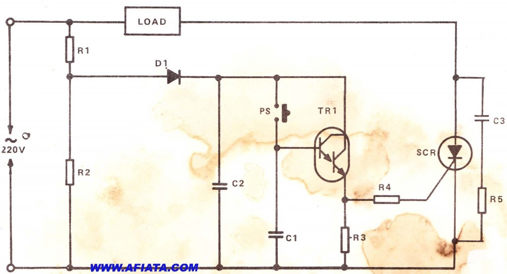 Scr Circuit Electronic Circuit Diagram And Layout