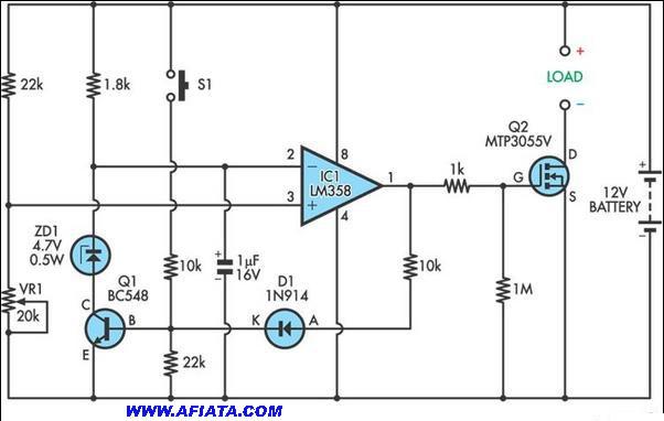 Siriene Police Circuit Diagram ussing LM358, BC548, 1N914, MTP3055V