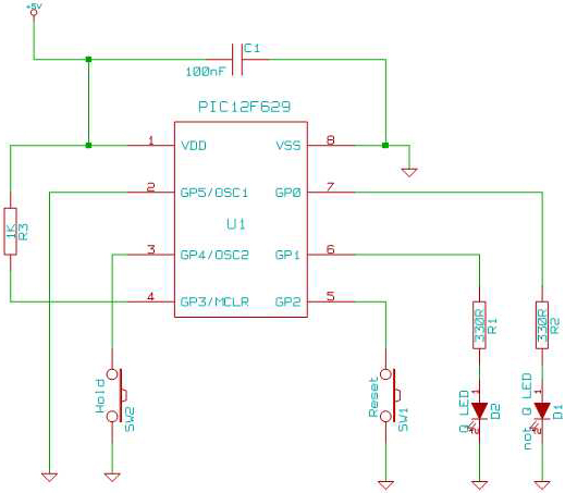 Timer Astable circuit using PIC12F629