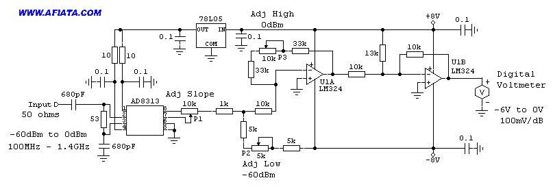 VU Meter Schematic