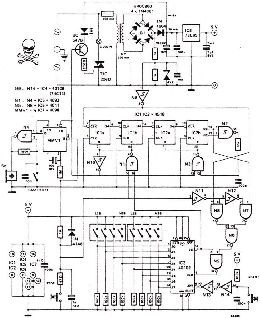 full mode 24 hour digital clock circuit
