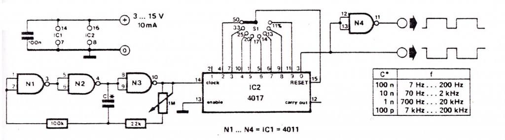 Rotary Switches Circuit Diagram