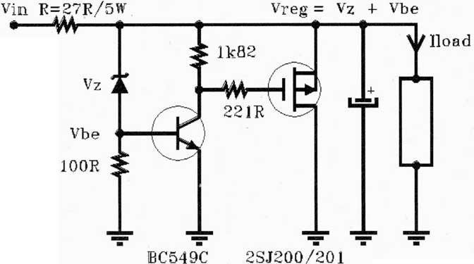simple shunt reg circuit