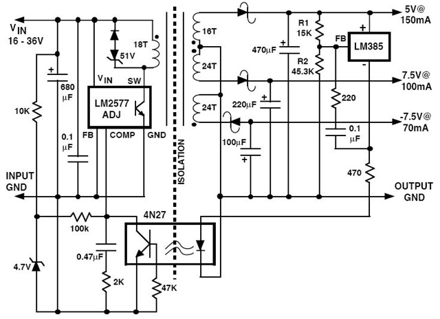 Flyback Regulator Circuit