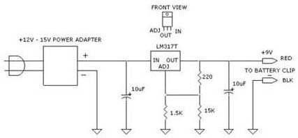 Variable dc power supply circuit diagram using lm317