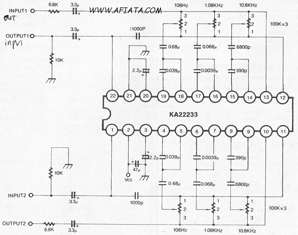 Graphic Equalizer Circuit 10 Band I2c Eq Car Wiring Diagram Download