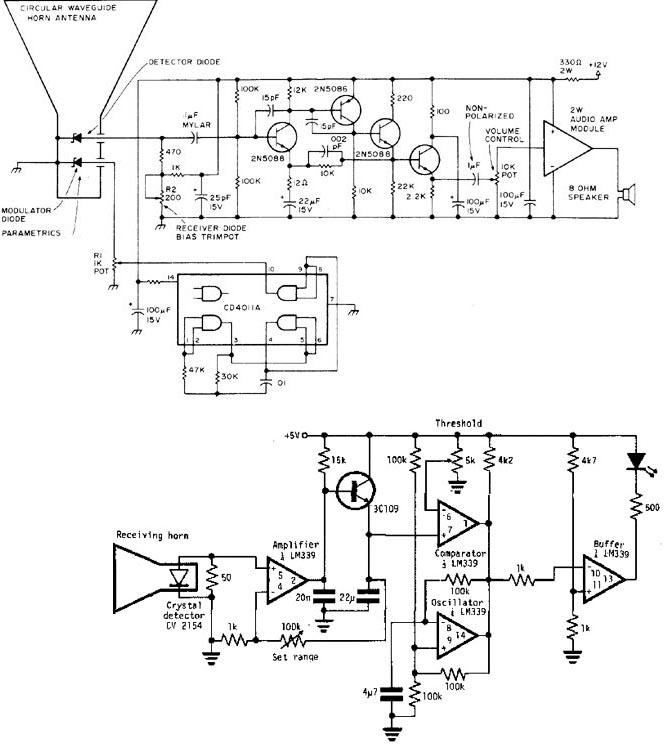 Audio Frequency Sensor Schematic