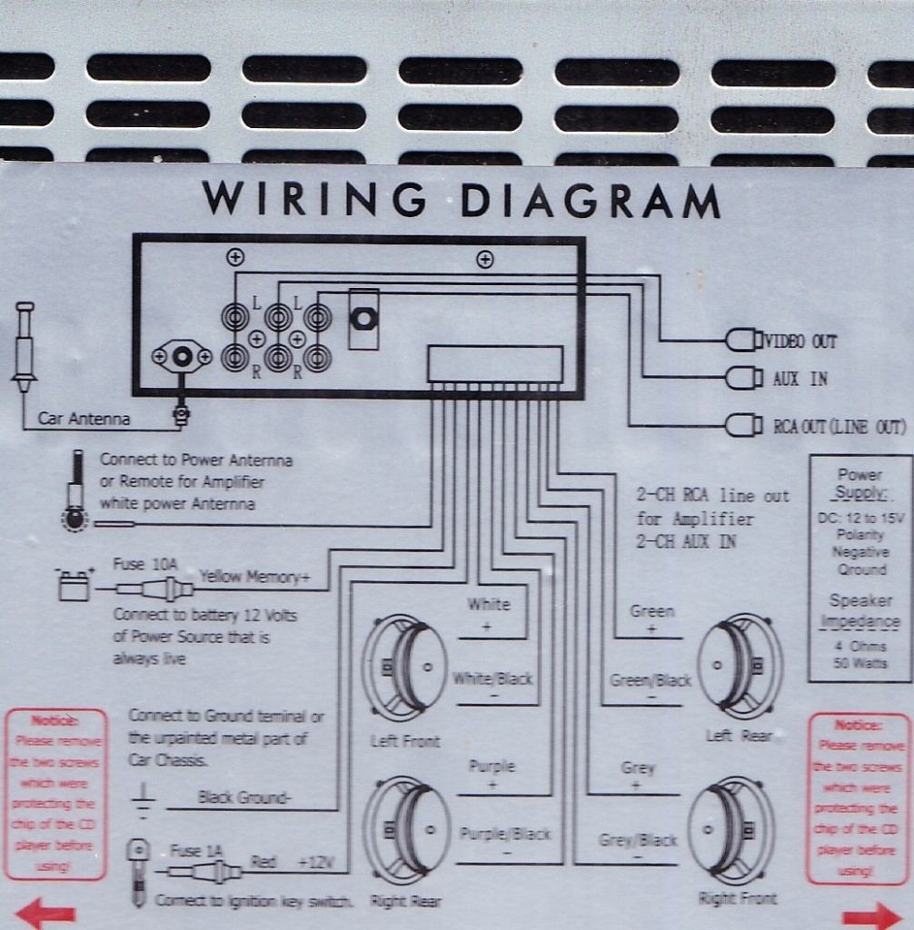 car stereo amplifier wiring diagram