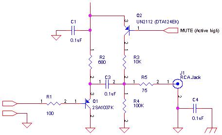 RF circuit using 2SA1037K , UN 2112