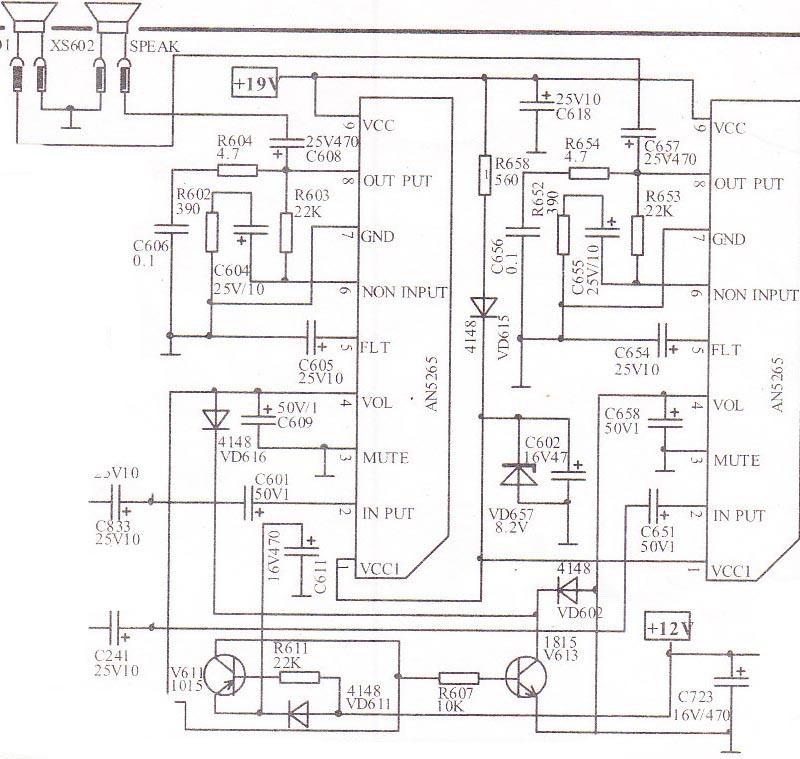 stereo audio tv circuit