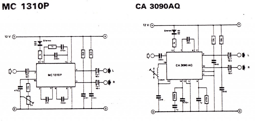 MC1310 stereo decoder schematic