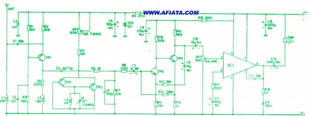 circuit diagram electronic ballast tube light f m tuner using bf324 electronic circuit diagram and layout