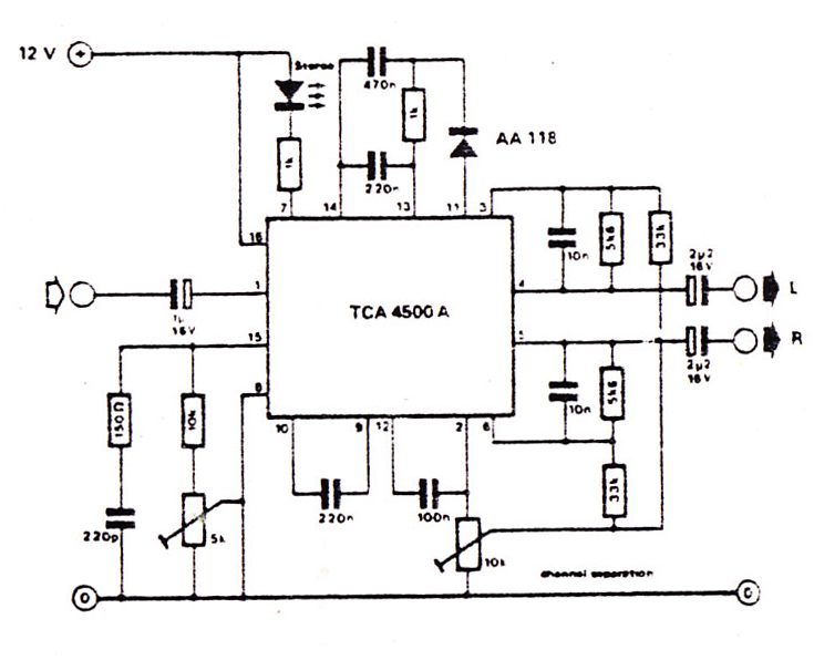 FM Stereo Modulator TCA4500A