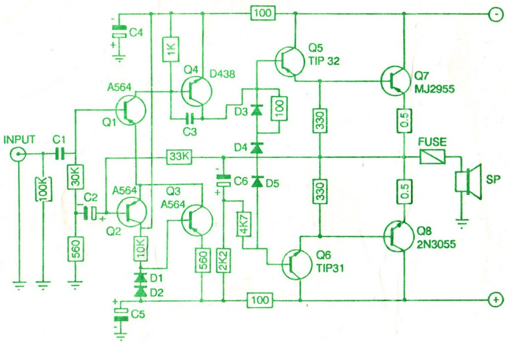 150w Amp Circuit