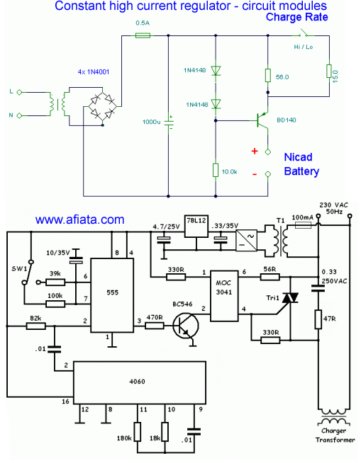 Constant high current regulator - circuit modules