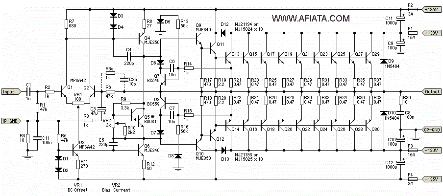 pa 3000w namec circuit diagram