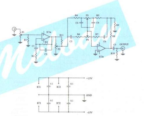 hi fi bass treble circuit electronic circuit diagram and. Black Bedroom Furniture Sets. Home Design Ideas