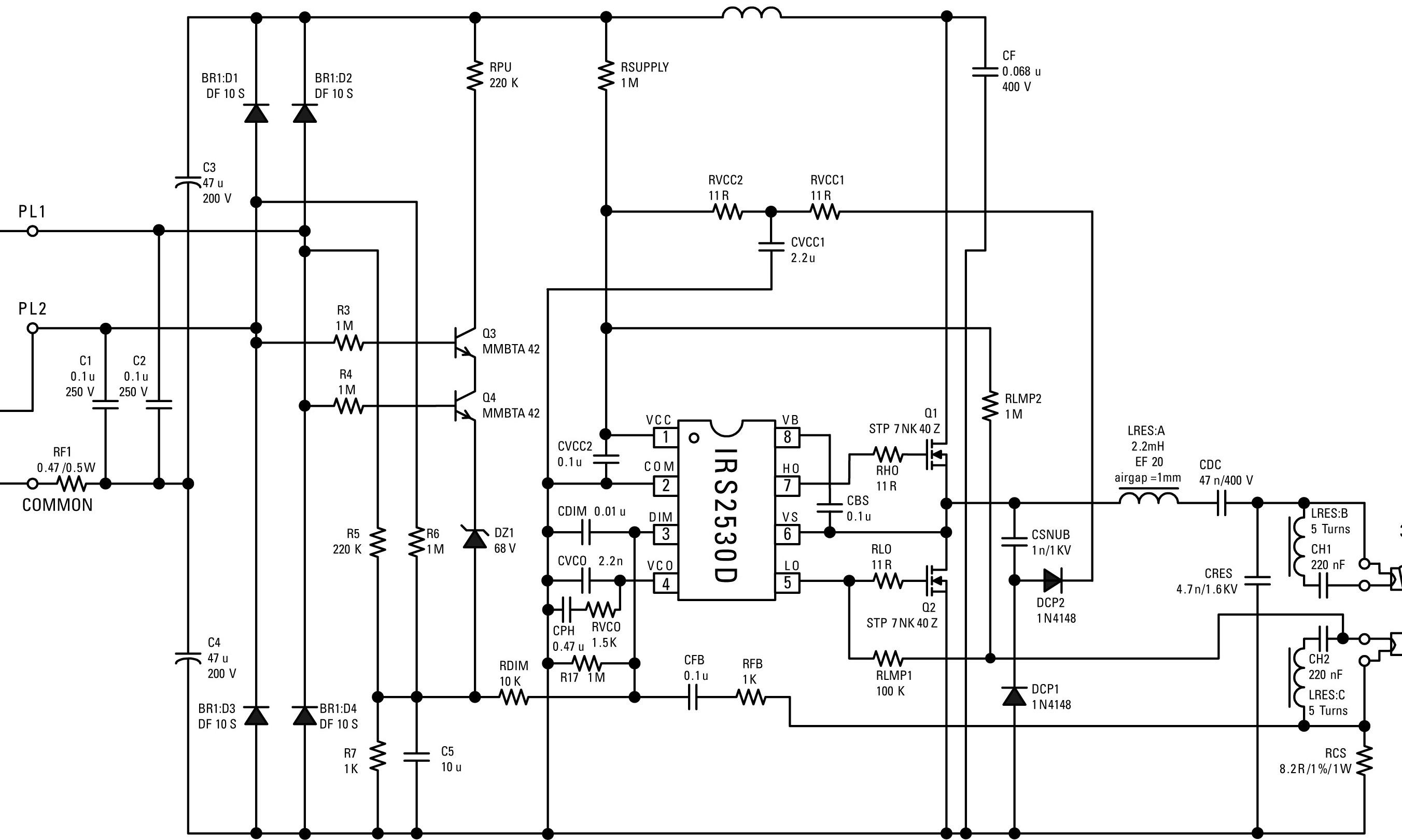 Electronic X Ballast Circuit
