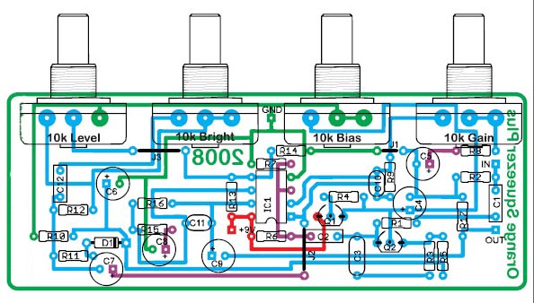 op amp Compressor Circuit using IC1 4558 ATAS