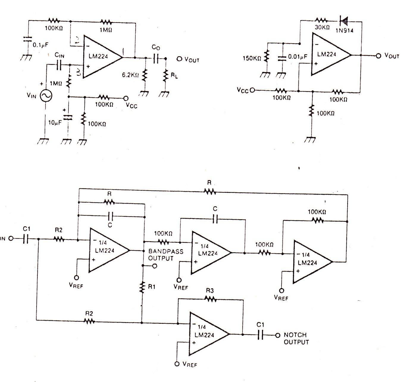 Jrc4558 Power Amplifier Circuit Wiring And Diagram Hub 1000w Electronic Circuits Op Amp Using Lm224 Audio