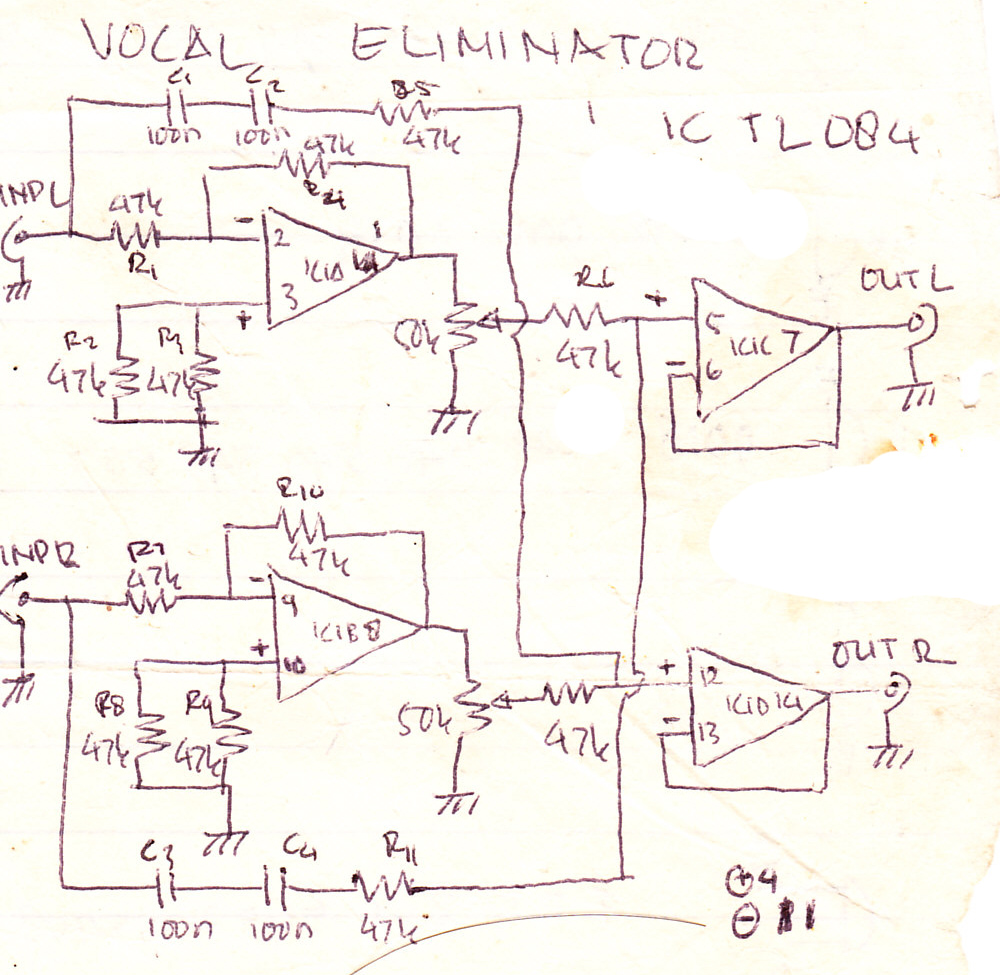 Pretty Eliminator Circuit Diagram Photos Lc Filter Basiccircuit Seekic Vocal Electronic And Layout